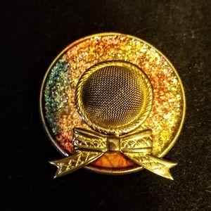 Jewelry - Vintage glittery hat brooch/pin